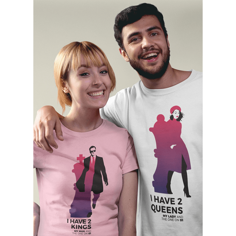 Chess T-shirt 2 Queens