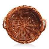 Wicker Basket Round With Handles