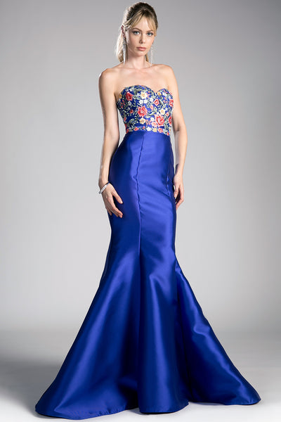 ROYAL BLUE FITTED EVENING GOWN, Evening, Cinderella Divine, darling-glam-co