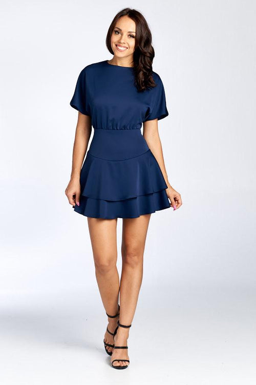 YASSI NAVY BLUE PARTY DRESS, PARTY DRESS, AG Studio, darling-glam-co