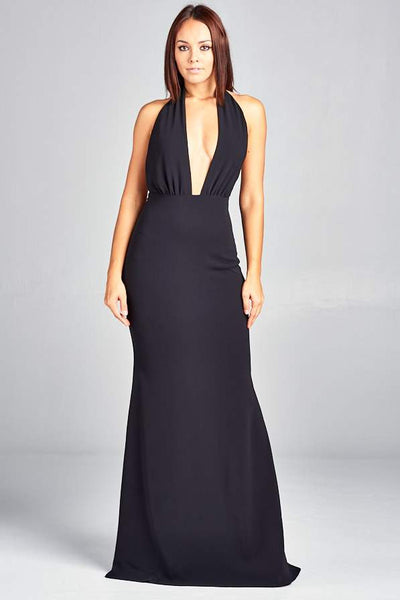 DIVA BLACK LONG EVENING DRESS, Evening, AG Studio, darling-glam-co