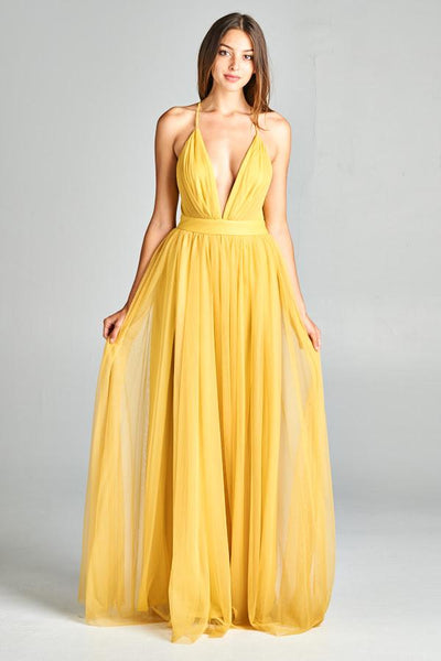 ZARA SULPHUR DRESS, Evening, AG Studio, darling-glam-co