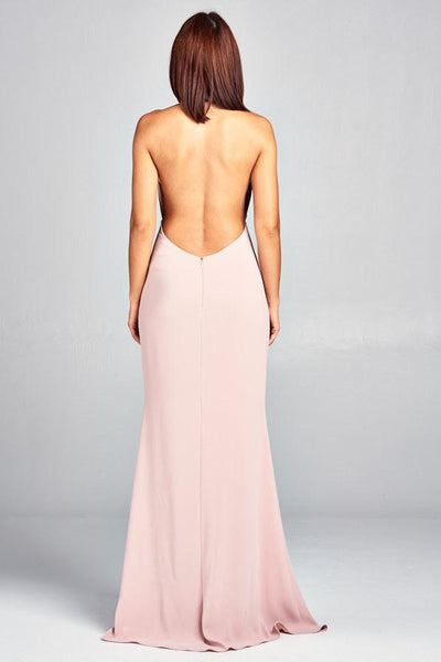 DIVA DUSTY PINK LONG EVENING DRESS, Evening, AG Studio, darling-glam-co