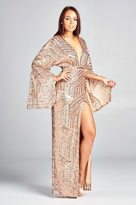CINDY SEQUIN GOLD PLAYSUIT