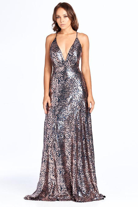 GOLDEN DIVA EVENING DRESS