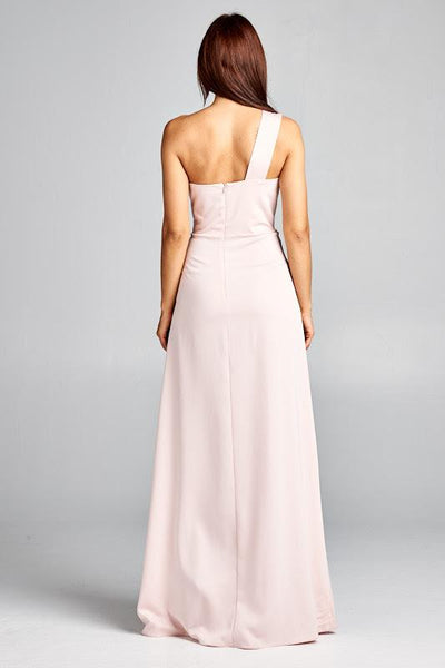 RONNIE BLUSH DRESS, Cocktail, AG Studio, darling-glam-co