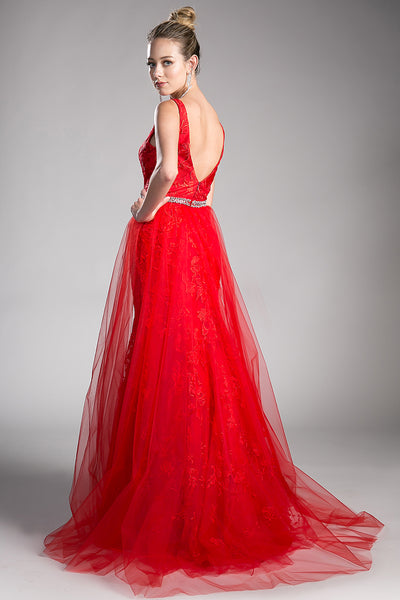 MARY RED EVENING GOWN, Evening, Cinderella Divine, darling-glam-co