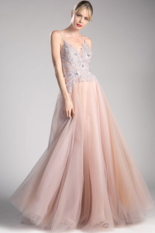 ROSE CRYSTAL FULL BALL GOWN, Ball Gowns, Cinderella Divine, darling-glam-co