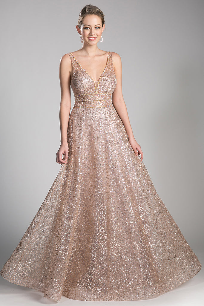 SHIMMER GOLD FULL BALL GOWN – Darling & Glam Co