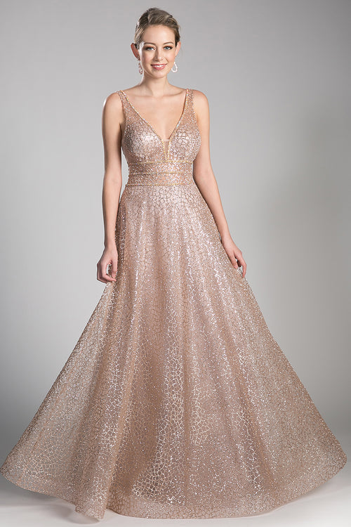 SHIMMER GOLD FULL BALL GOWN, Ball Gowns, Cinderella Divine, darling-glam-co