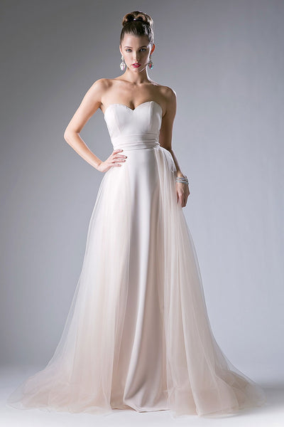STRAPLESS CHAMPAGNE EVENING GOWN, Evening, Cinderella Divine, darling-glam-co
