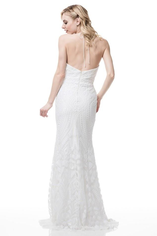 OFF WHITE  EVENING DRESS, Evening, AG Studio, darling-glam-co