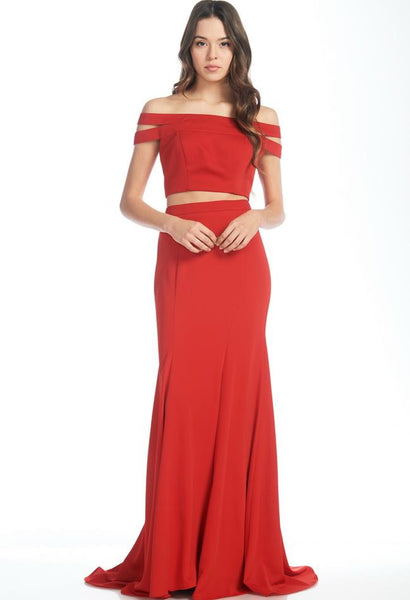 RED REBECCA 2 PIECE DRESS, Evening, AG Studio, darling-glam-co