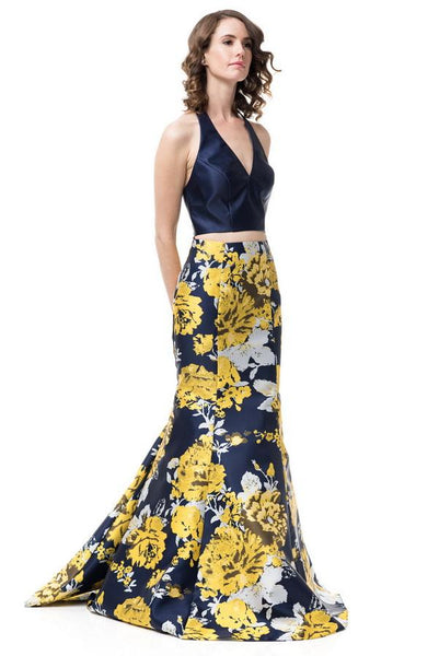 FLORAL MERMAID FITTED GOWN, Evening, AG Studio, darling-glam-co