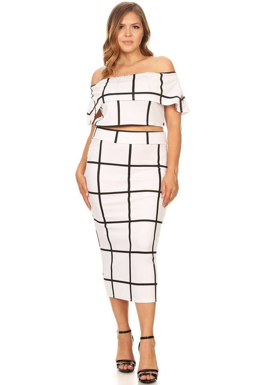 WHITE BLACK KYLIE 2 PIECE SET, PARTY DRESS, SEXY DIVA, darling-glam-co