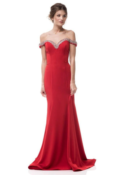SWEETHEART NECKLINE RED ELEGANT GOWN, Evening, AG Studio, darling-glam-co