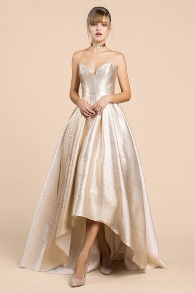 STRAPLESS HIGH-LOW BALL GOWN, Evening, Andrea & Leo, darling-glam-co