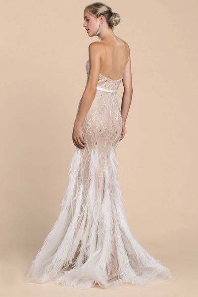 LOUISE IVORY BEADED GOWN, Evening, Andrea & Leo, darling-glam-co