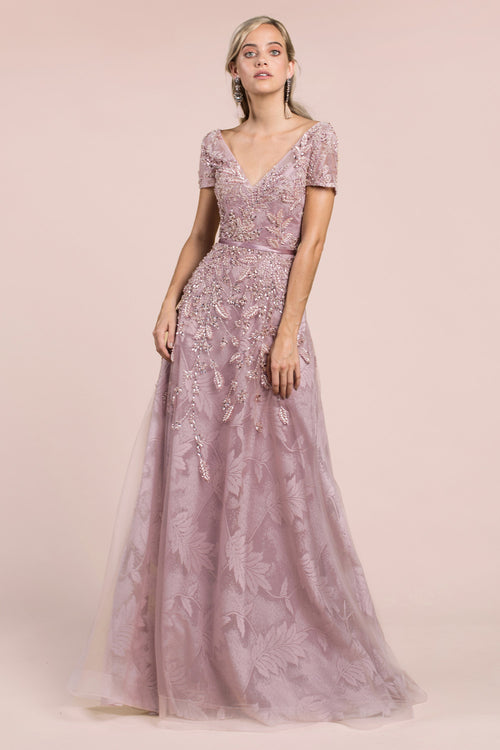 PEARLBERRY EMBELLISHMENT GOWN, Evening, Andrea & Leo, darling-glam-co