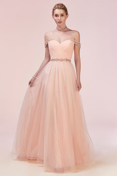 BELLA BLUSH BALLGOWN, Ball Gowns, Andrea & Leo, darling-glam-co