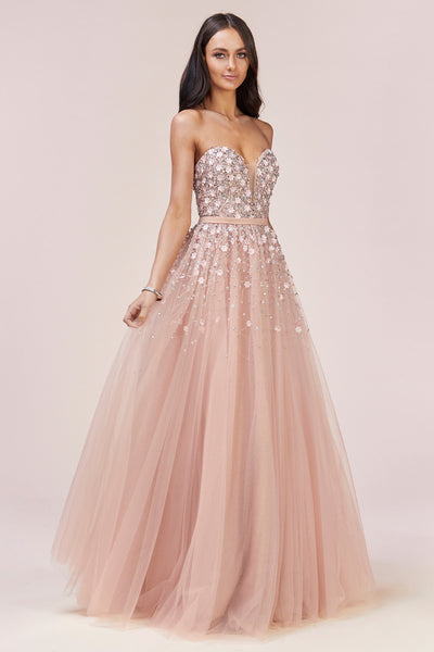 SPRING RAIN EMBELLISHMENT BALL GOWN, Evening, Andrea & Leo, darling-glam-co