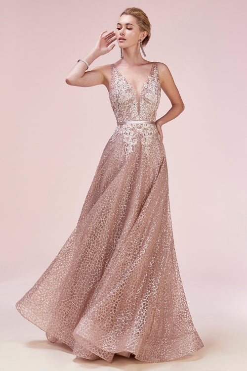 GLITTERATI V-NECK GOWN, Evening, Andrea & Leo, darling-glam-co