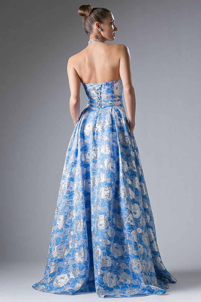 FLORAL BLUE FULL BALL GOWN, Ball Gowns, Cinderella Divine, darling-glam-co