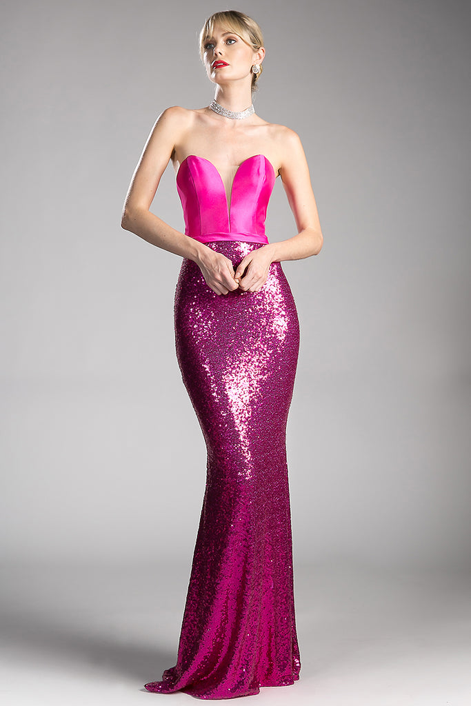 LILLIAN SEQUIN EVENING GOWN – Darling & Glam Co