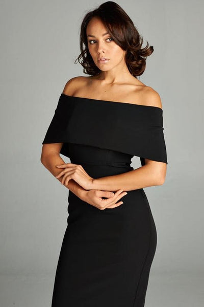 BLACK TINA DRESS, PARTY DRESS, AG Studio, darling-glam-co