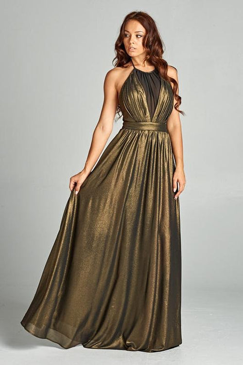 GOLDEN METALLIC KILLER DRESS, Evening, AG Studio, darling-glam-co