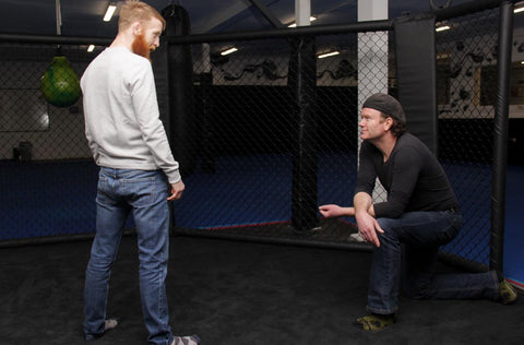 Paddy Holohan & Terry McMahon inside the Octagon at SBG D24