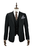 Felix 3 Piece Black Suit