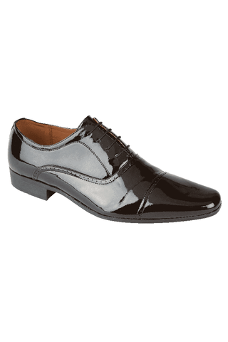 KNIGHTSBRIDGE Black Patent Shoe
