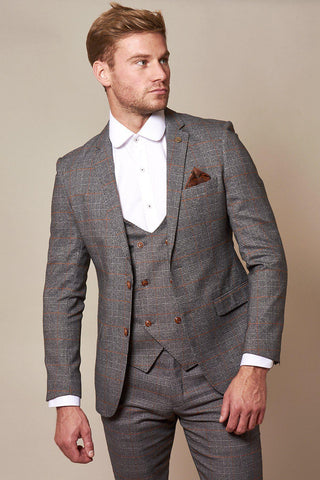 JENSON - Grey Check Blazer