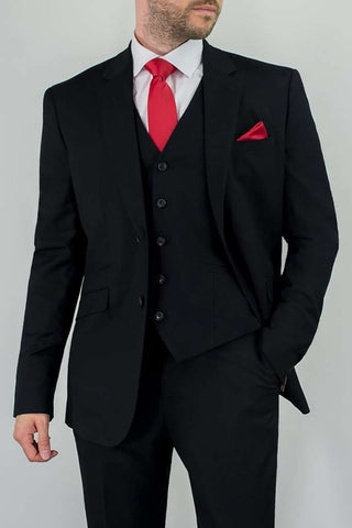 Marco 3 Piece Black Suit