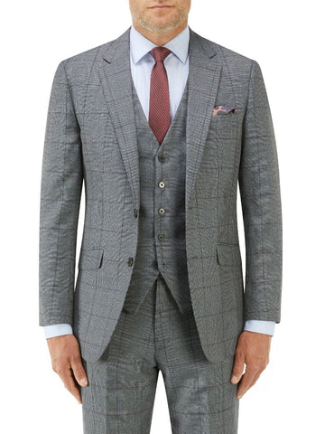 TUDHOPE SLIM SUIT BLUE CHECK