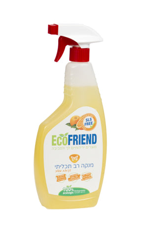 "ECO FRIEND - מנקה רב תכליתי בניחוח תפוז - 750 מ""ל - טבע שופ"