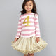 Bob & Blossom vintage striped number t-shirt - Gold Pink
