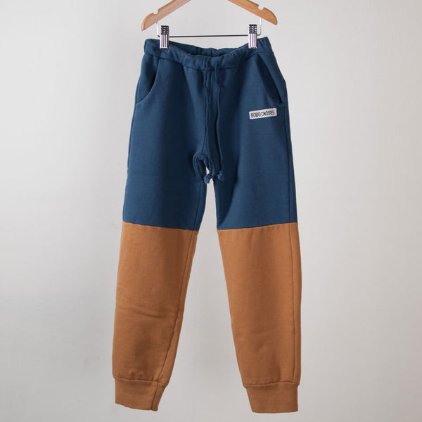 Bobo Choses Bicolor Blue/Brown Trousers - MAMAKA Shop