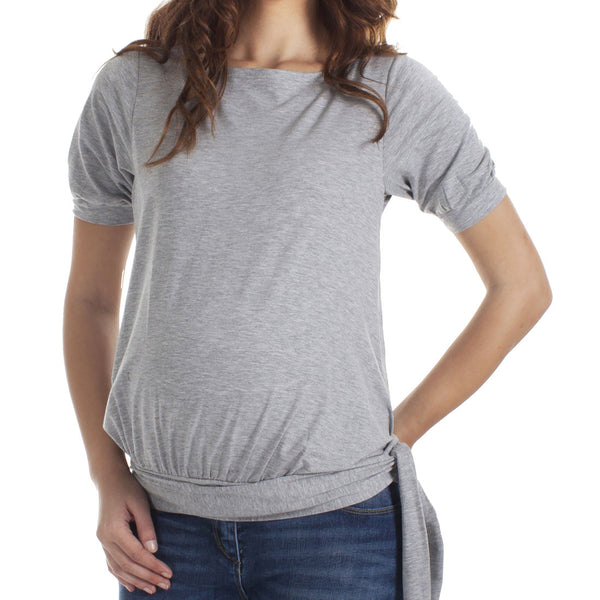 Mamaka HipTie nursing top - Grey