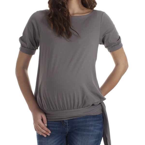Mamaka HipTie nursing top - Elephant Grey