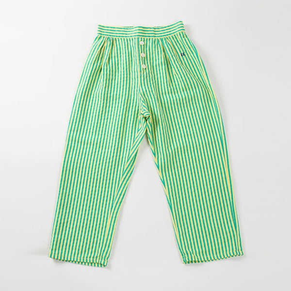 Bobo Choses Lounge pants - Yellow / Green Stripes - MAMAKA Shop