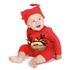 Olive & Moss Maximilian the Moose Romper Long - Red - MAMAKA Shop