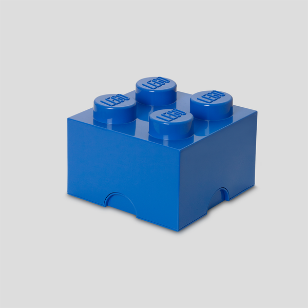 Lego Storage Brick 4 - Blue - MAMAKA Shop