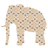 Inke handmade wallpaper Animals Safari - Elephant 041 - Left - MAMAKA Shop