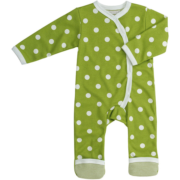 Pigeon Organics Spotty romper long - Green