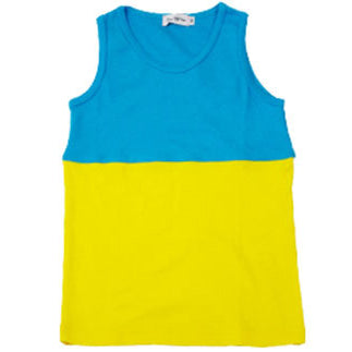 Franky Grow two tones tank - Blue Yellow - MAMAKA Shop