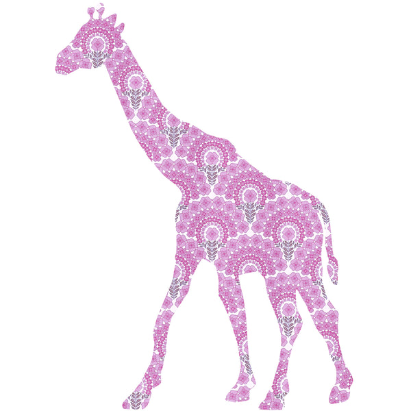 Inke handmade wallpaper Animals Safari - Giraffe 030 - Left - MAMAKA Shop