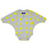 Franky Grow baby body 18-30 months beige-yellow dots