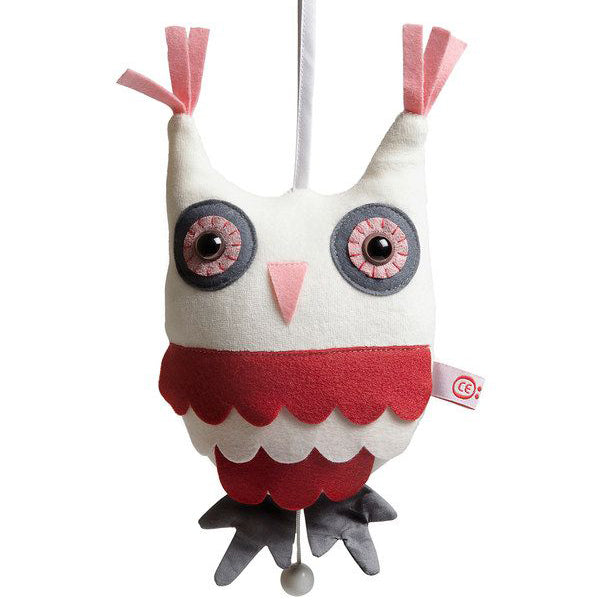 Esthex music box hendrik the owl - pink